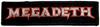 MEGADETH (LOGO) Patch