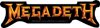 MEGADETH (GOLD LOGO) Sticker