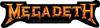 MEGADETH (GOLD LOGO) Sticker