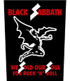 BLACK SABBATH (WE SOLD OUR SOULS) Back Patch
