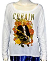 KURT COBAIN (PROFILE) Babydoll Wide Round Neck, Long Sleeve
