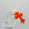 RED CROSS/DOG TAG PENDANT